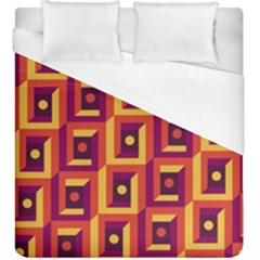 3 D Squares Abstract Background Duvet Cover (king Size)