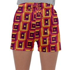 3 D Squares Abstract Background Sleepwear Shorts