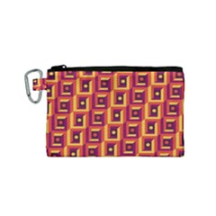 3 D Squares Abstract Background Canvas Cosmetic Bag (small)