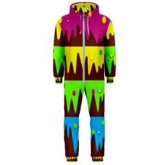 Illustration Abstract Graphic Hooded Jumpsuit (men)