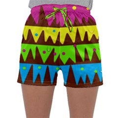 Illustration Abstract Graphic Sleepwear Shorts