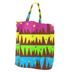 Illustration Abstract Graphic Giant Grocery Zipper Tote