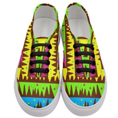 Illustration Abstract Graphic Women s Classic Low Top Sneakers
