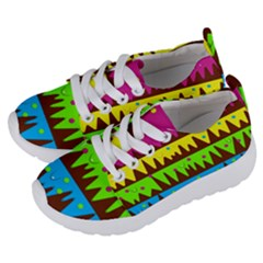 Illustration Abstract Graphic Kids  Lightweight Sports Shoes by Nexatart