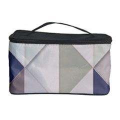 Background Geometric Triangle Cosmetic Storage Case by Nexatart