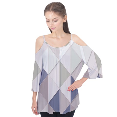 Background Geometric Triangle Flutter Tees by Nexatart