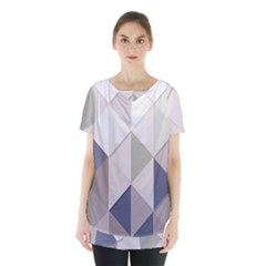 Background Geometric Triangle Skirt Hem Sports Top by Nexatart