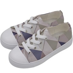 Background Geometric Triangle Kids  Low Top Canvas Sneakers by Nexatart
