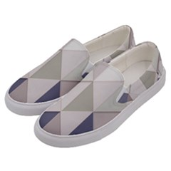 Background Geometric Triangle Men s Canvas Slip Ons by Nexatart