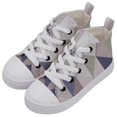 Background Geometric Triangle Kid s Mid Top Canvas Sneakers by Nexatart