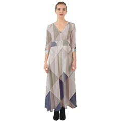 Background Geometric Triangle Button Up Boho Maxi Dress by Nexatart