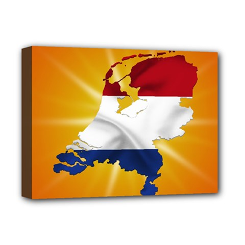Holland Country Nation Netherlands Flag Deluxe Canvas 16  X 12