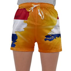 Holland Country Nation Netherlands Flag Sleepwear Shorts