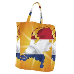 Holland Country Nation Netherlands Flag Giant Grocery Zipper Tote