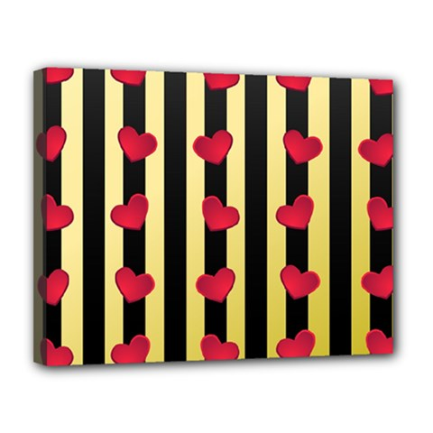 Love Heart Pattern Decoration Abstract Desktop Canvas 14  X 11