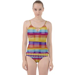 Art Background Abstract Cut Out Top Tankini Set