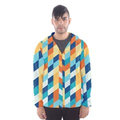 Geometric Retro Wallpaper Hooded Wind Breaker (men)