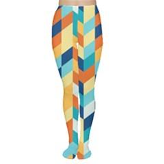 Geometric Retro Wallpaper Women s Tights by Nexatart