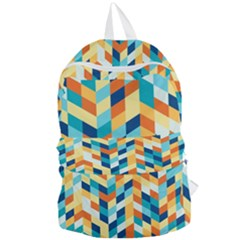 Geometric Retro Wallpaper Foldable Lightweight Backpack