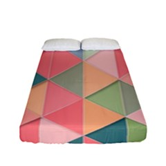 Background Geometric Triangle Fitted Sheet (full/ Double Size)