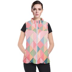 Background Geometric Triangle Women s Puffer Vest