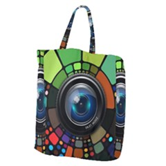 Lens Photography Colorful Desktop Giant Grocery Zipper Tote