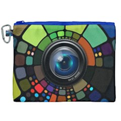 Lens Photography Colorful Desktop Canvas Cosmetic Bag (xxl) by Nexatart