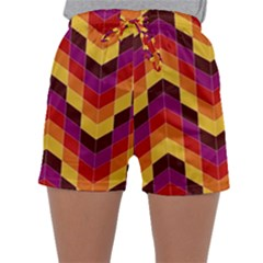 Geometric Pattern Triangle Sleepwear Shorts