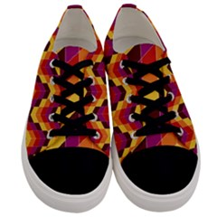 Geometric Pattern Triangle Men s Low Top Canvas Sneakers