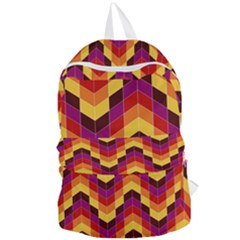 Geometric Pattern Triangle Foldable Lightweight Backpack