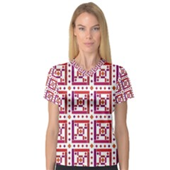 Background Abstract Square V Neck Sport Mesh Tee by Nexatart