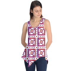 Background Abstract Square Sleeveless Tunic