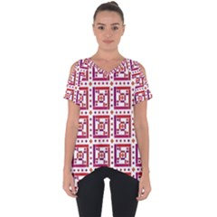 Background Abstract Square Cut Out Side Drop Tee