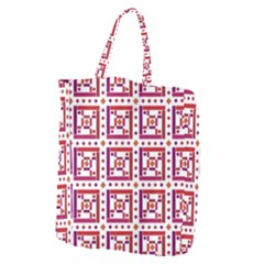 Background Abstract Square Giant Grocery Zipper Tote