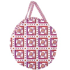 Background Abstract Square Giant Round Zipper Tote