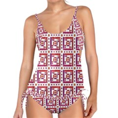 Background Abstract Square Tankini Set