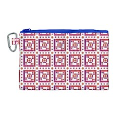 Background Abstract Square Canvas Cosmetic Bag (large) by Nexatart