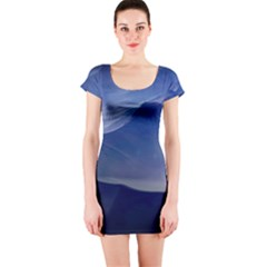 Planet Discover Fantasy World Short Sleeve Bodycon Dress