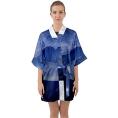 Planet Discover Fantasy World Quarter Sleeve Kimono Robe