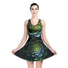 Nature Desktop Flora Color Pattern Reversible Skater Dress