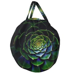 Nature Desktop Flora Color Pattern Giant Round Zipper Tote