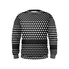 Holes Sheet Grid Metal Kids  Sweatshirt