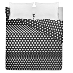 Holes Sheet Grid Metal Duvet Cover Double Side (queen Size)