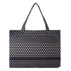 Holes Sheet Grid Metal Medium Tote Bag