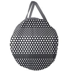 Holes Sheet Grid Metal Giant Round Zipper Tote