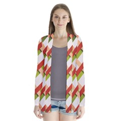Wallpaper Creative Design Drape Collar Cardigan