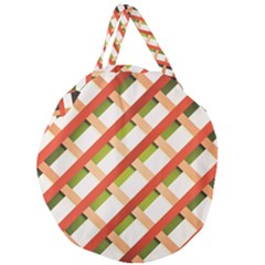 Wallpaper Creative Design Giant Round Zipper Tote