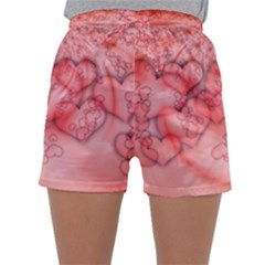 Heart Love Friendly Pattern Sleepwear Shorts