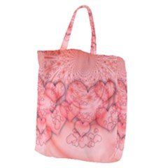 Heart Love Friendly Pattern Giant Grocery Zipper Tote