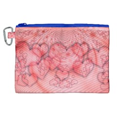 Heart Love Friendly Pattern Canvas Cosmetic Bag (xl) by Nexatart